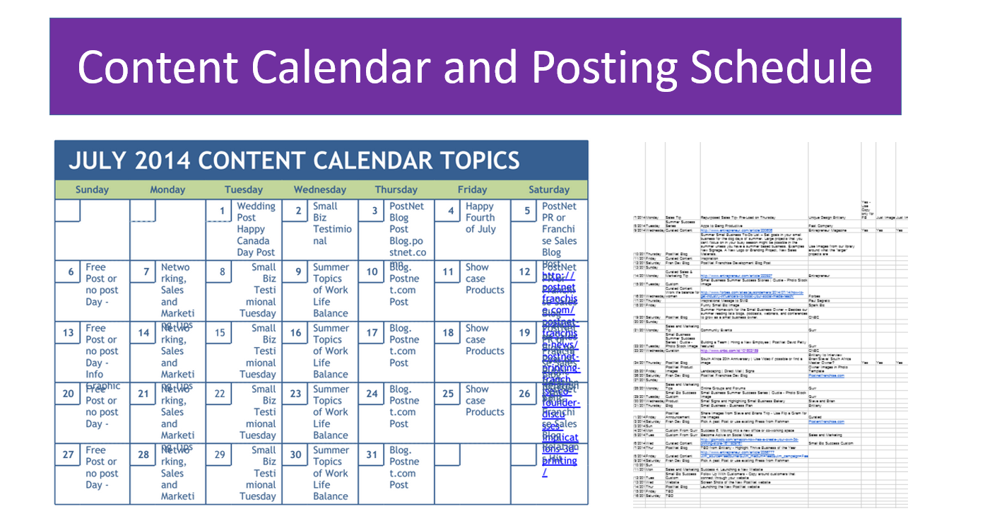 Social Media Posting Schedule Template Zrom